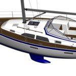 На Open Yard будет представлена новая парусная яхта Hallberg-Rassy 340