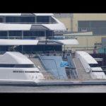 4К | Мега-яхта Аль LUSAIL — бывший проект Юпитер — конкурса тест-драйвов