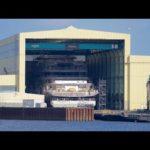 4К | запуск нового Мега 100м+ корпус яхты — проекта ШУ