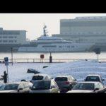 Яхта Эрмитажа и квантовой синий в зимнюю сказку — с покадровой Sevenoak