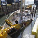 Подъем судна Oyster со дна