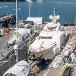 Новый плавучий сухой док на Palumbo Superyachts в Марселе